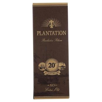 "Rum Plantation ""Barbados Extra Old 20th Anniversary"" 40% 0,7"
