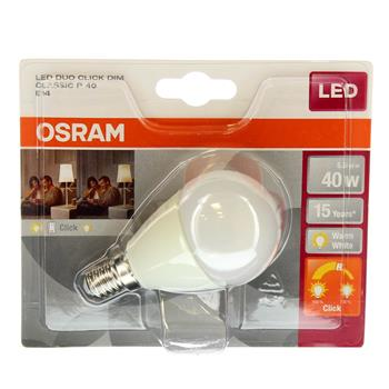 OSRAM LED STAR+ CL P Krone FR 40 Duo Click Dim  5,5W/827 E14